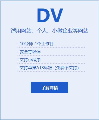 DV域名型